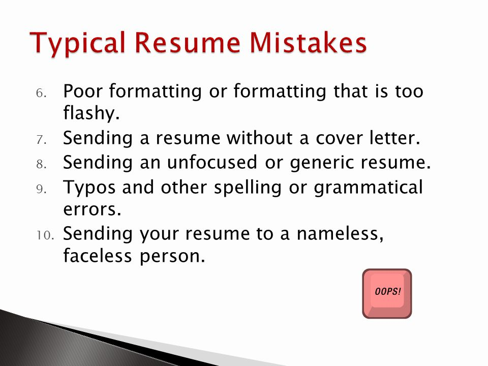 Typical Resume Mistakes