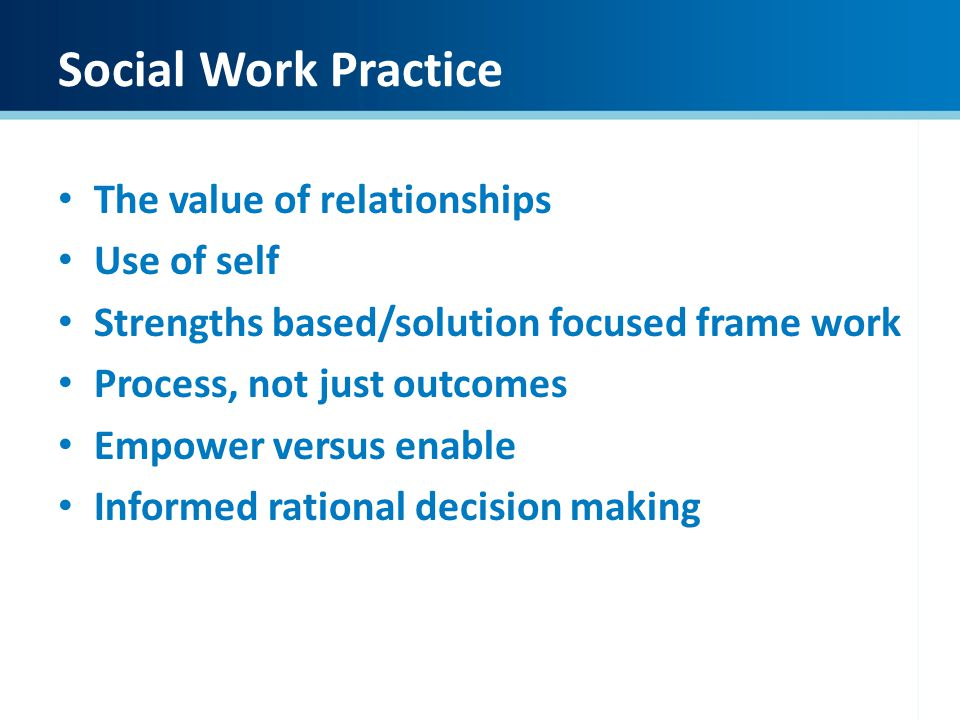 relationship based thinking and practice in social work