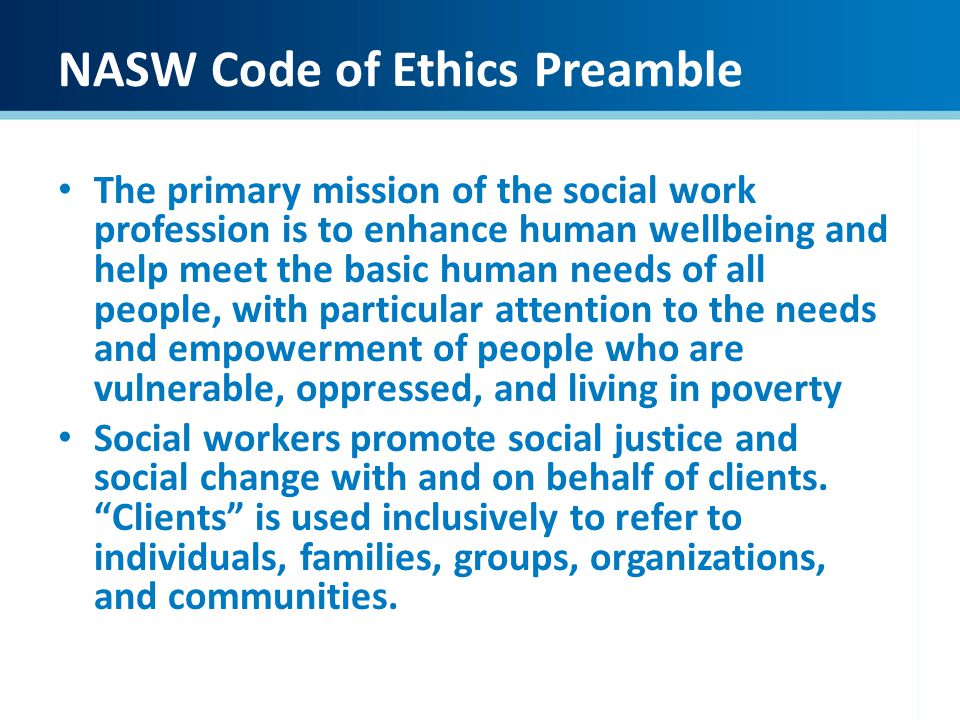 Values of a social worker