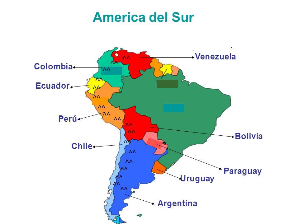 America del Sur Venezuela ^^ ^^ Colombia ^^ ^^ Ecuador ^^ ^^ ^^ ^^