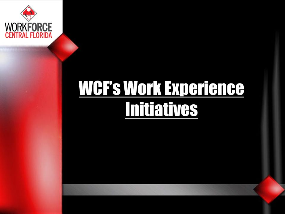 WCF's Work Experience Initiatives