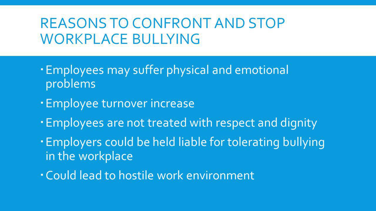 how to stop workplace bullying