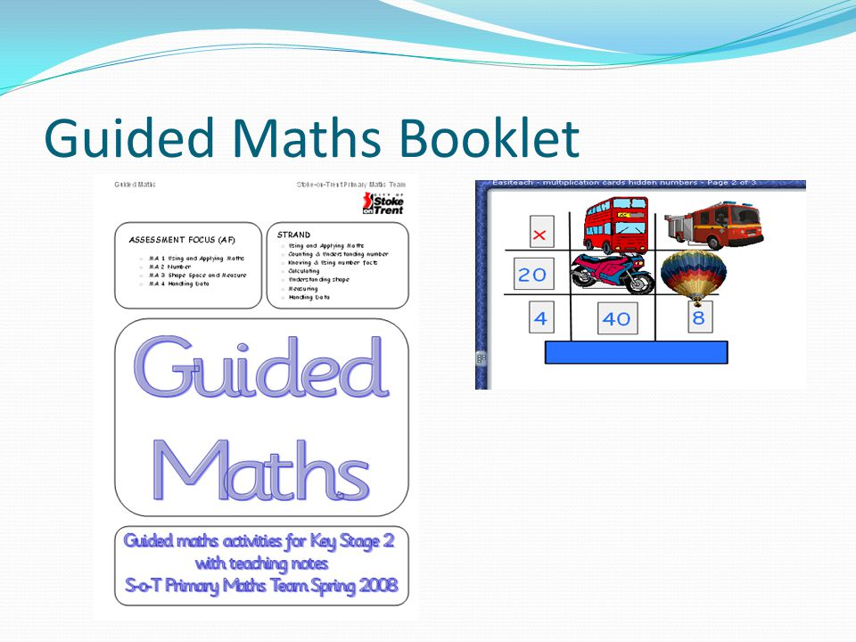 Guided Maths Booklet
