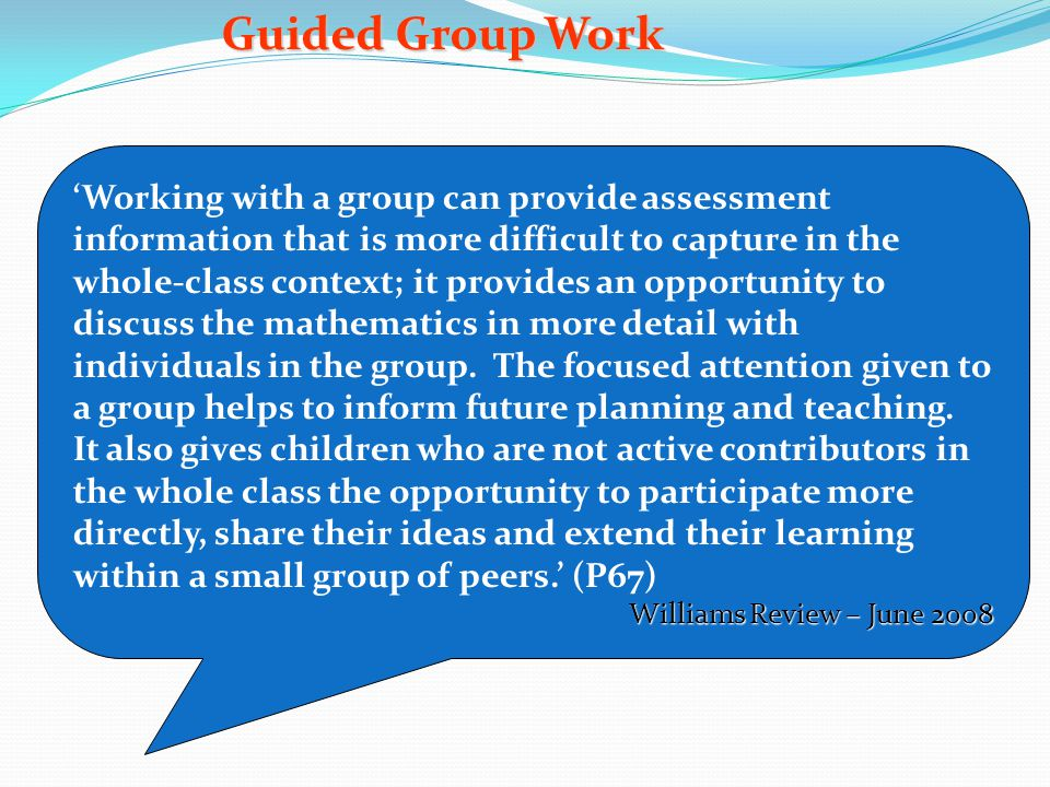 Guided Group Work