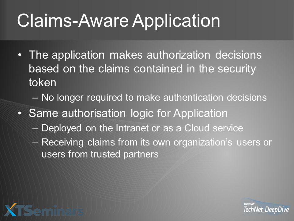 Claims-Aware Application