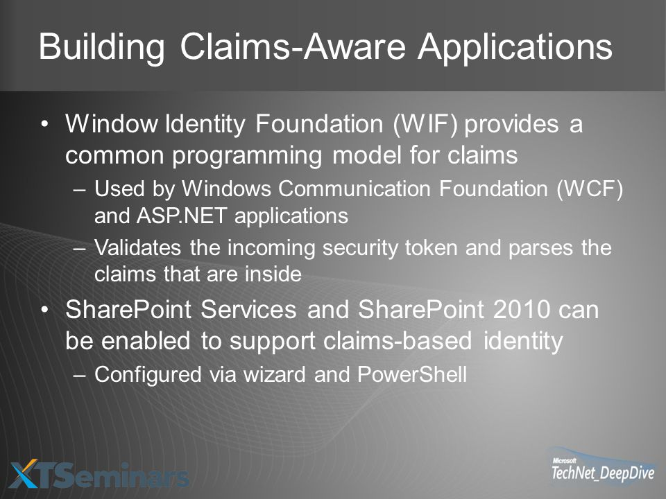Building Claims-Aware Applications