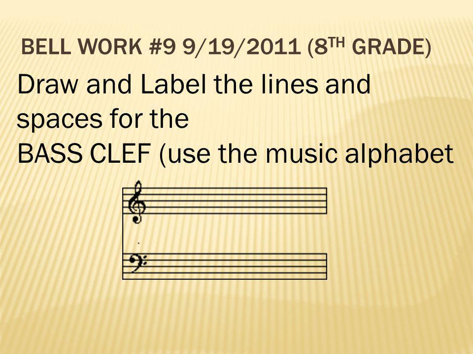 Bell Work #9 9/19/2011 (8th Grade)