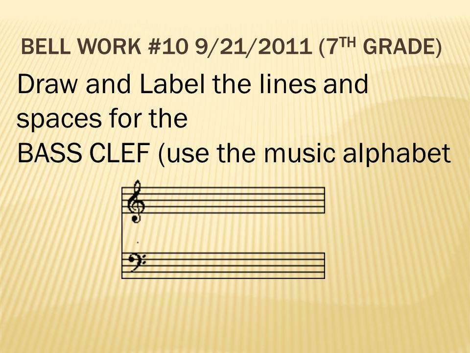 Bell Work #10 9/21/2011 (7th Grade)