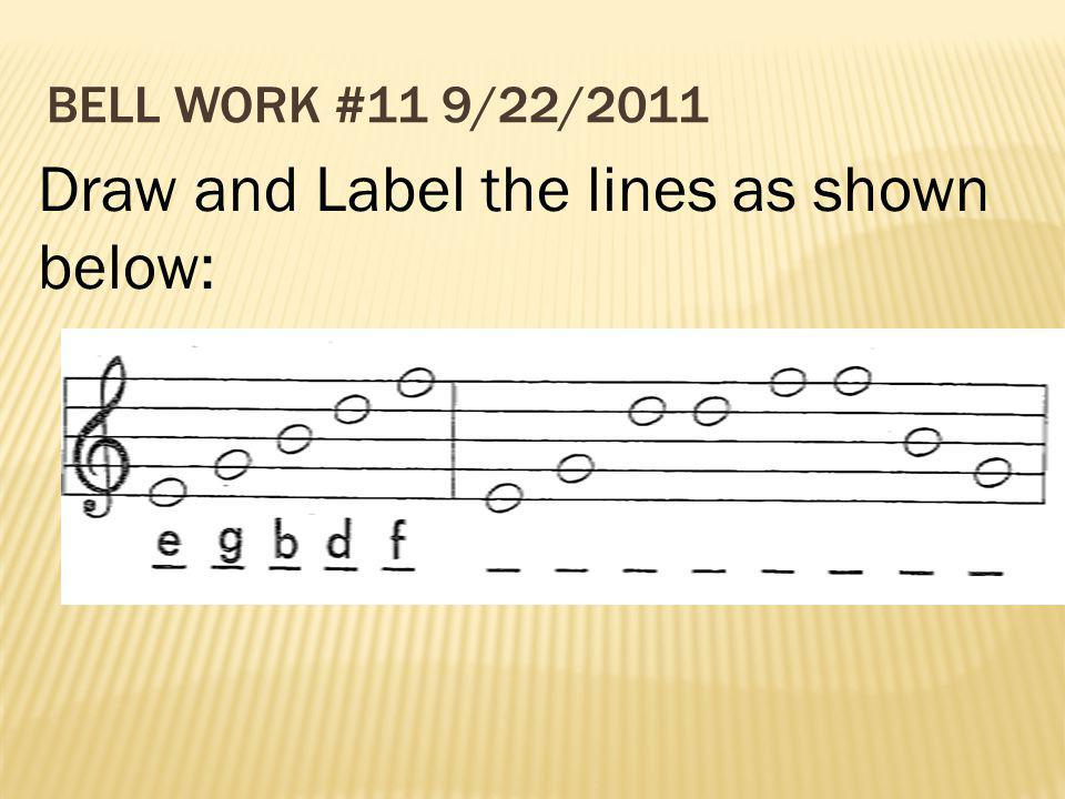 Draw and Label the lines as shown below: