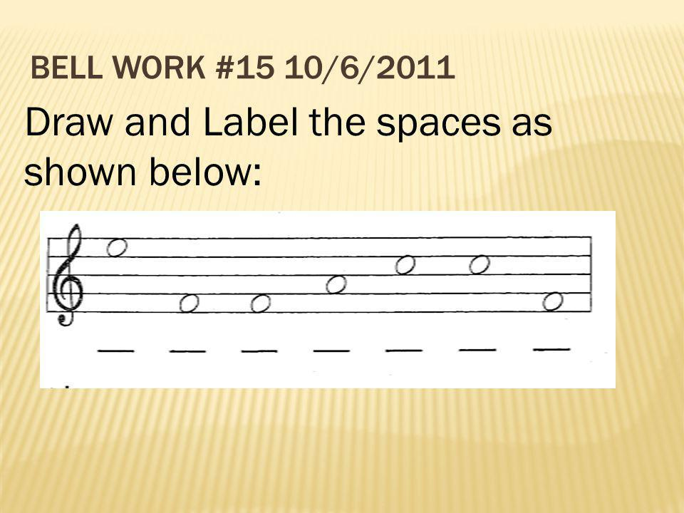 Draw and Label the spaces as shown below: