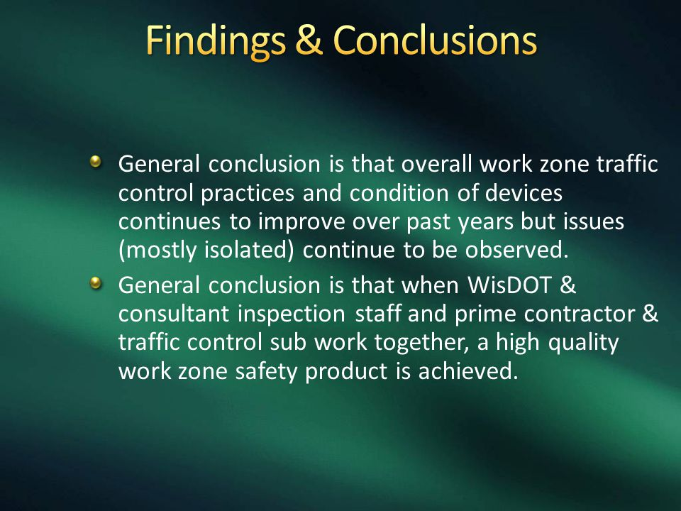 Findings & Conclusions