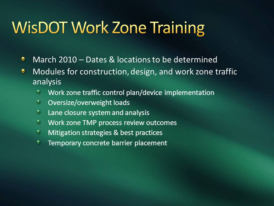 WisDOT Work Zone Training