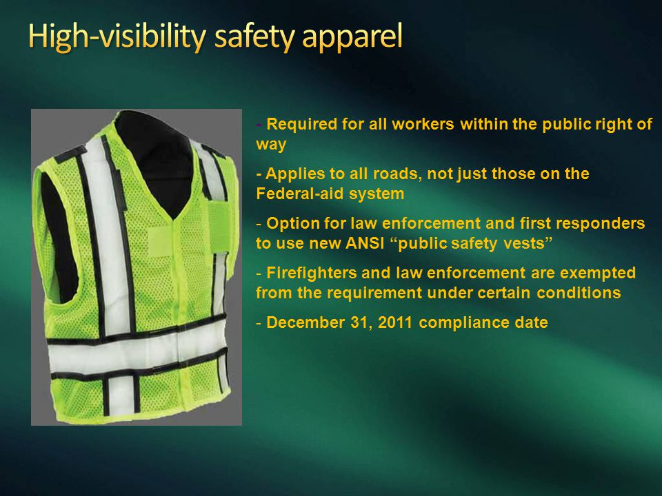 High-visibility safety apparel