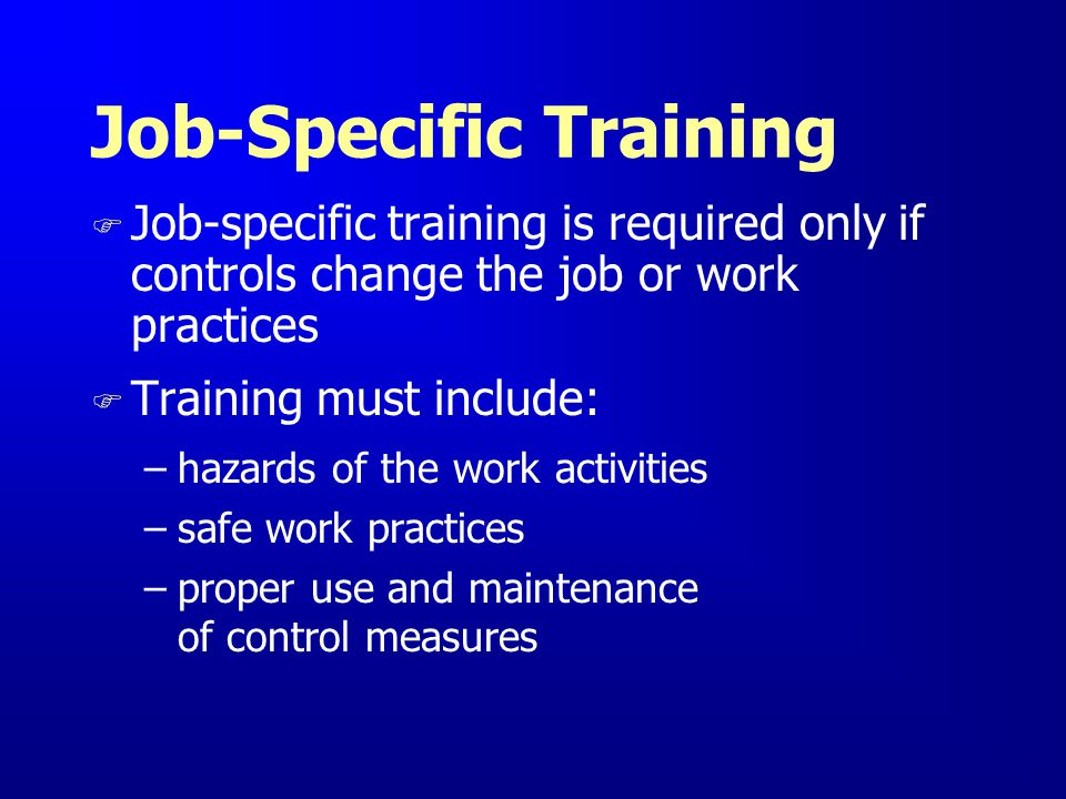 Job-Specific Training