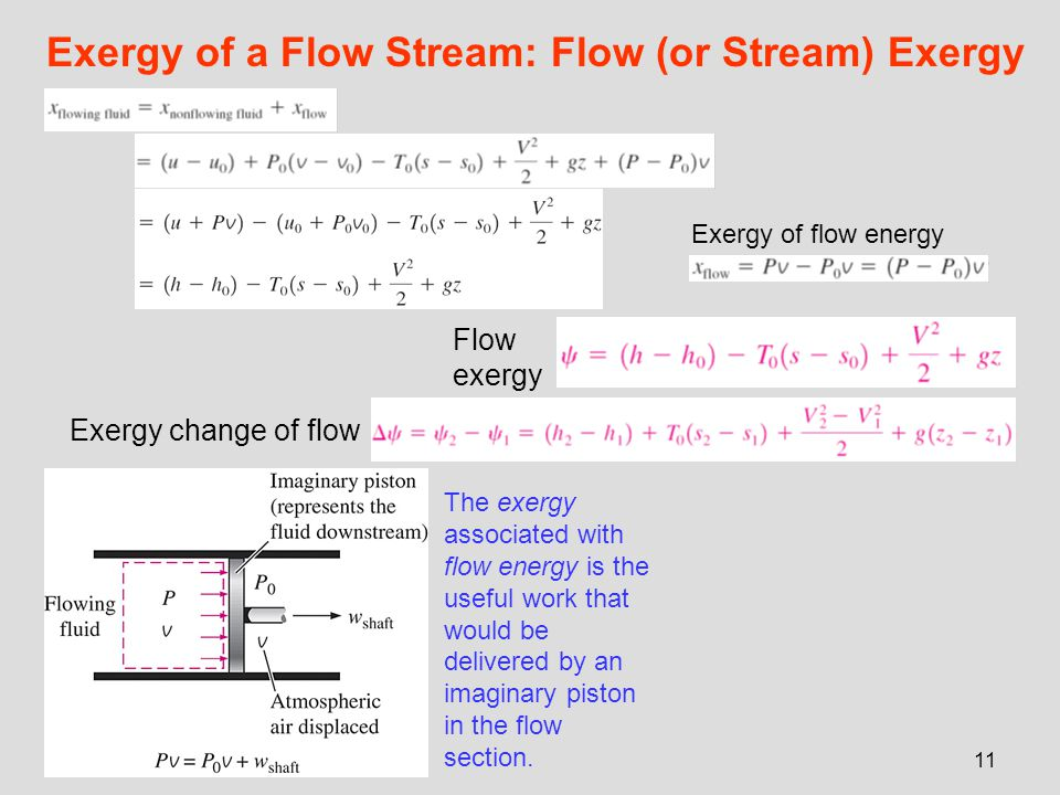 Exergy of a Flow Stream: Flow (or Stream) Exergy