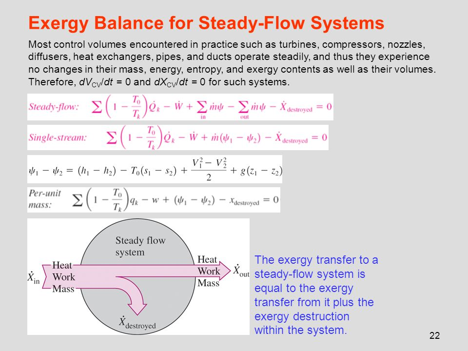 Exergy Balance for Steady-Flow Systems