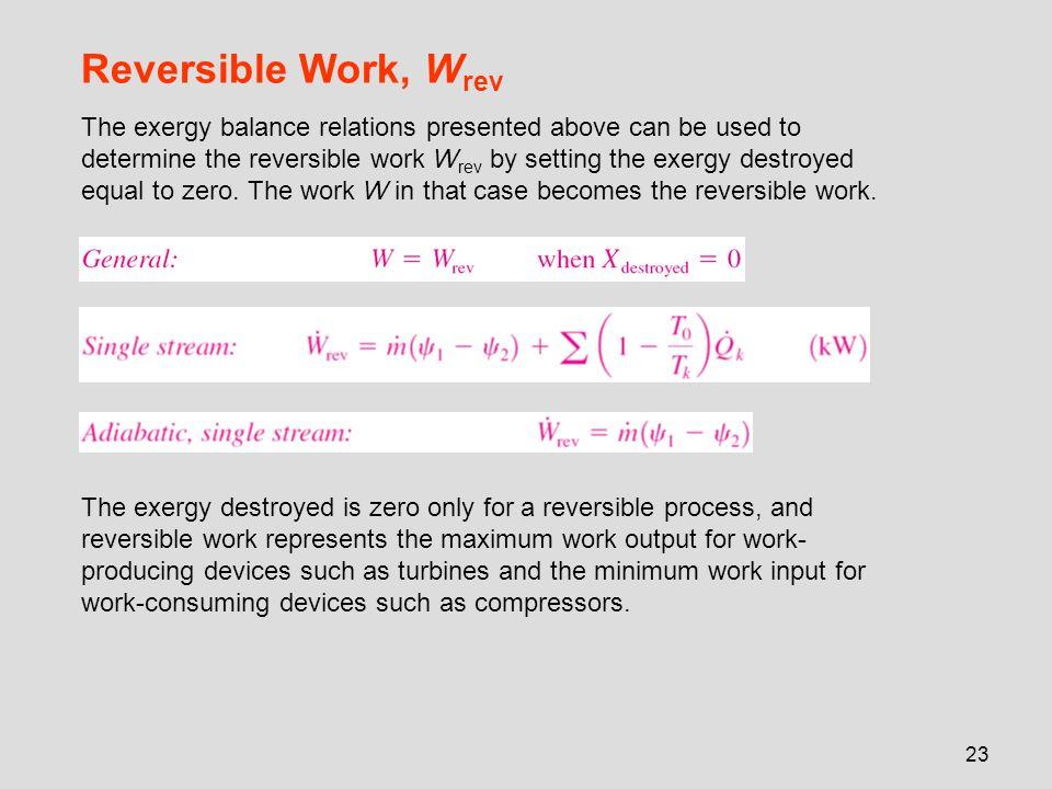 Reversible Work, Wrev
