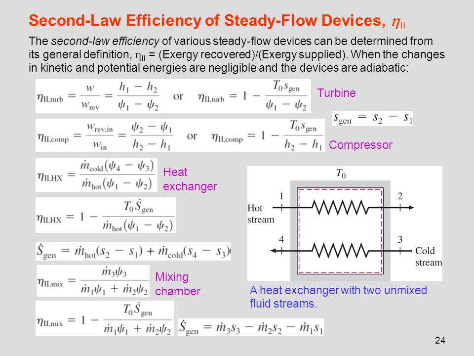 Second-Law Efficiency of Steady-Flow Devices, II