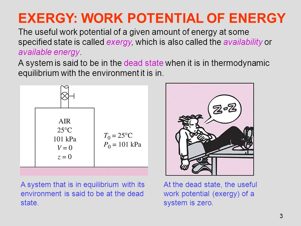 EXERGY: WORK POTENTIAL OF ENERGY