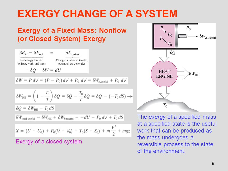 EXERGY CHANGE OF A SYSTEM