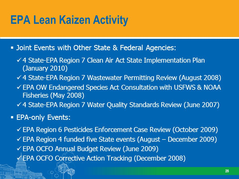 Compelling EPA Lean Results