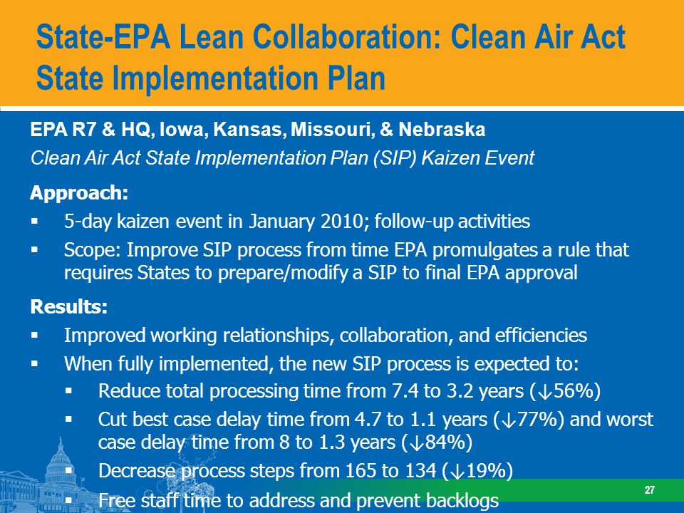 State-EPA Lean Collaboration: Water Quality Standards