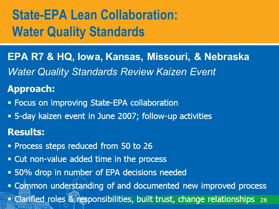 State-EPA Lean Collaboration: NPDES Water Pollution Discharge Elimination