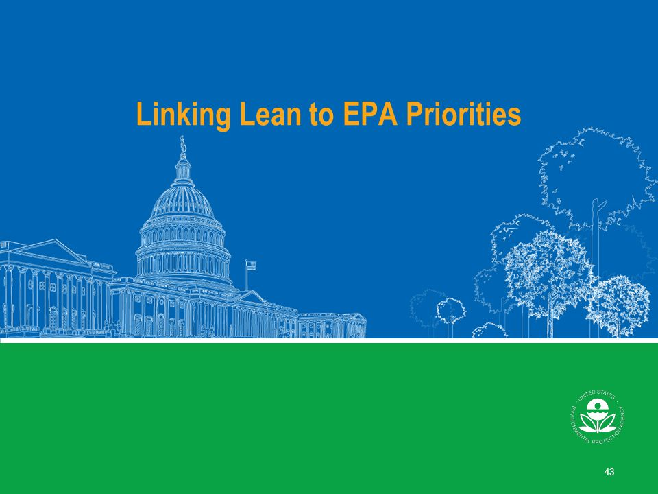 How Lean Relates to EPA's Mission
