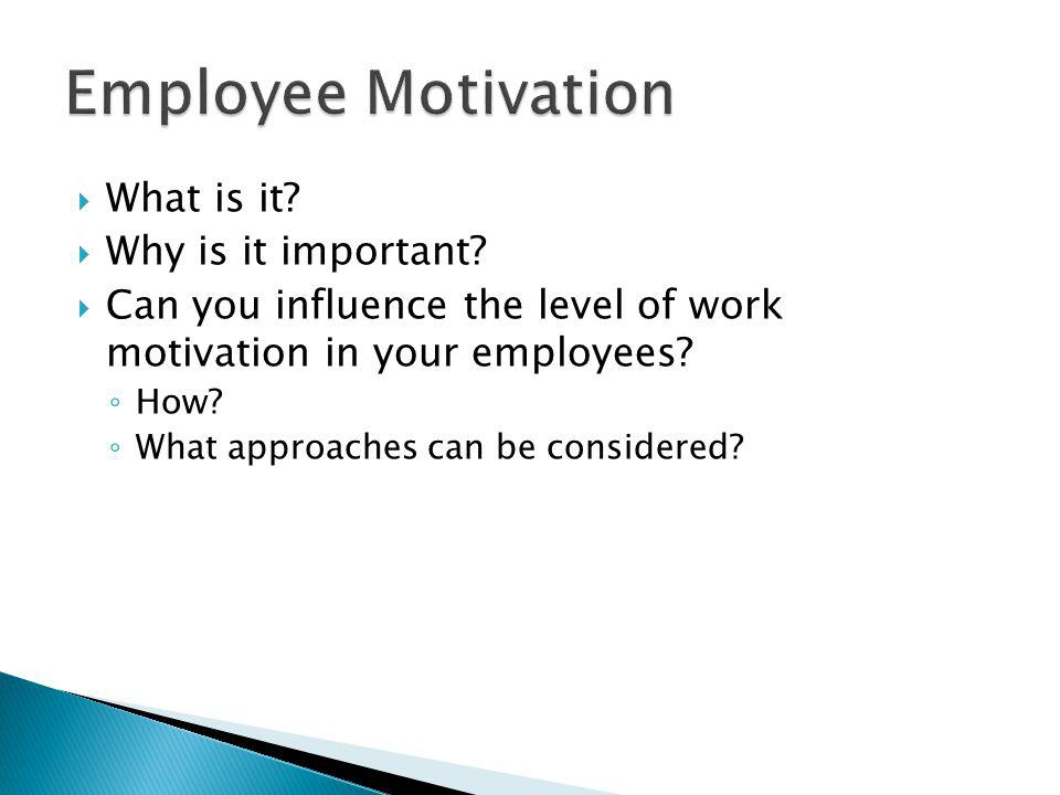 Employee Motivation What is it Why is it important