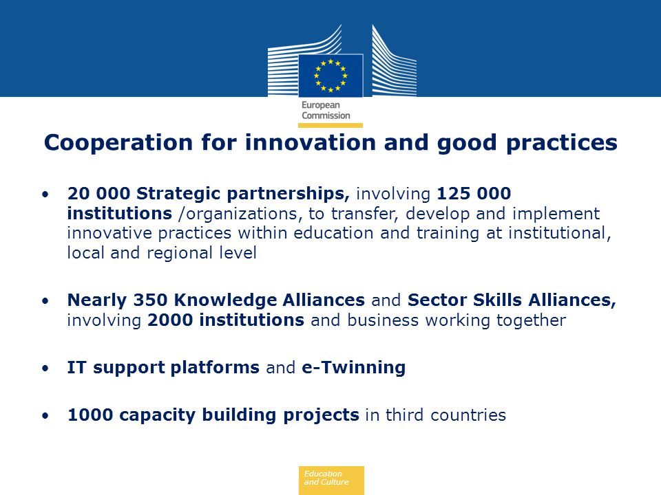 Cooperation for innovation and good practices