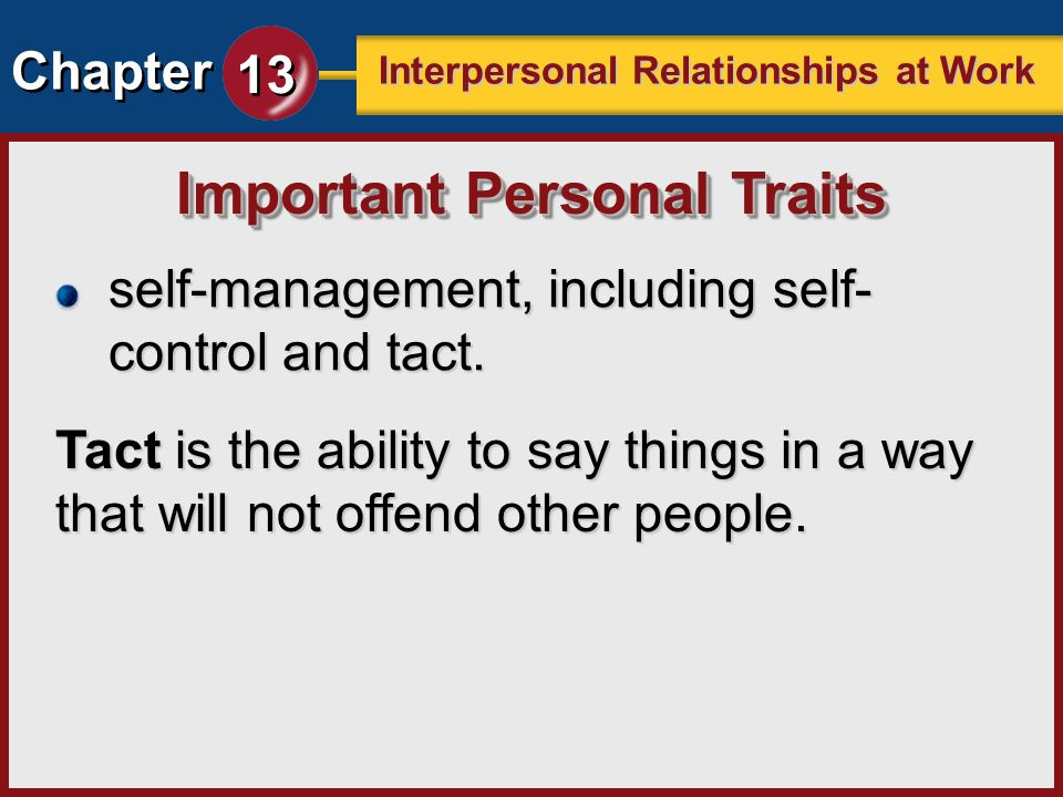 Interpersonal relationship and self awareness