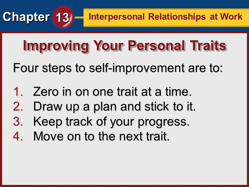 Improving Your Personal Traits