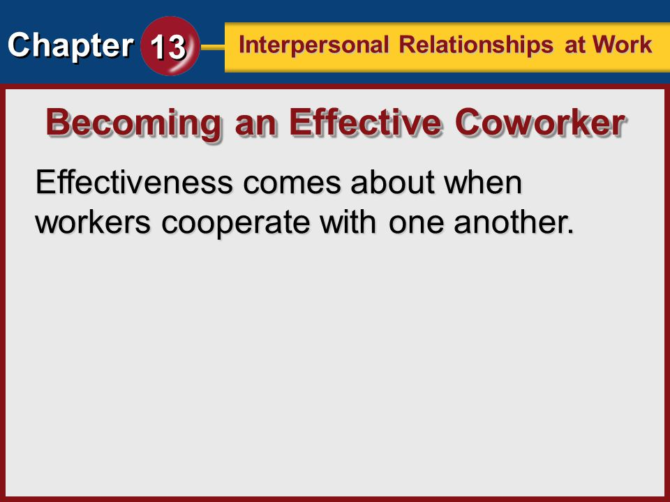 Becoming an Effective Coworker