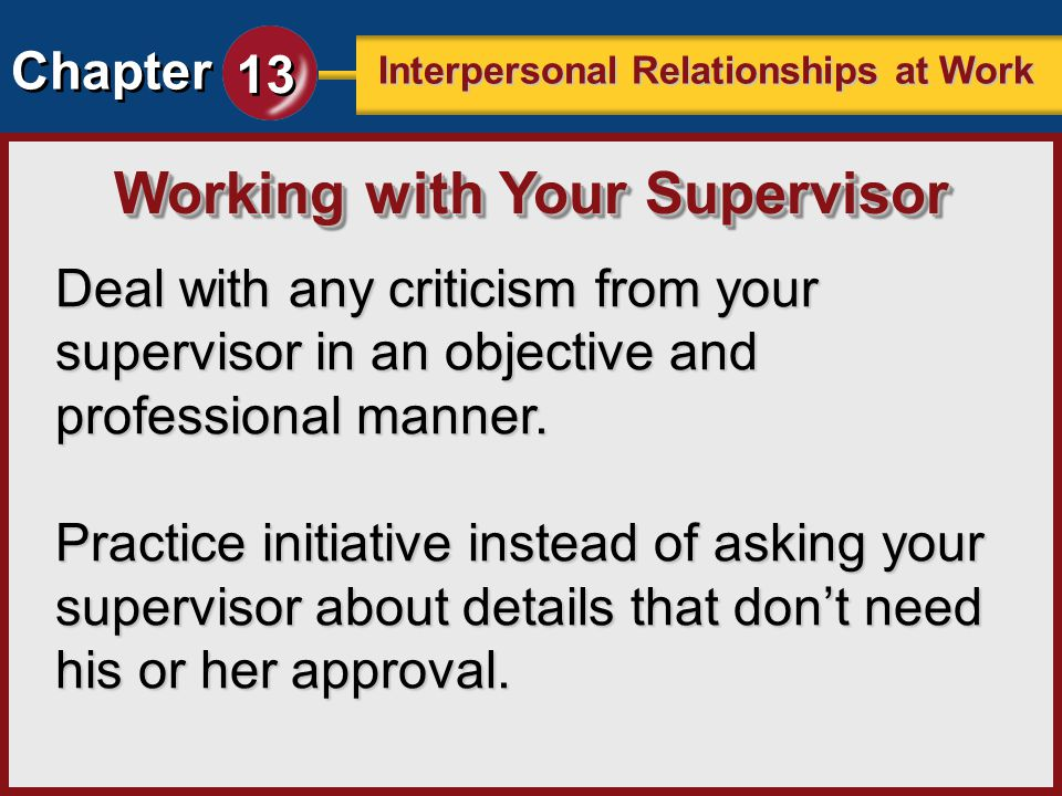Working with Your Supervisor