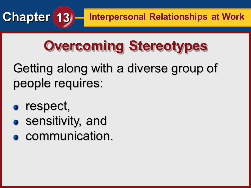 Overcoming Stereotypes