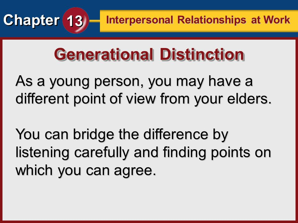 Generational Distinction