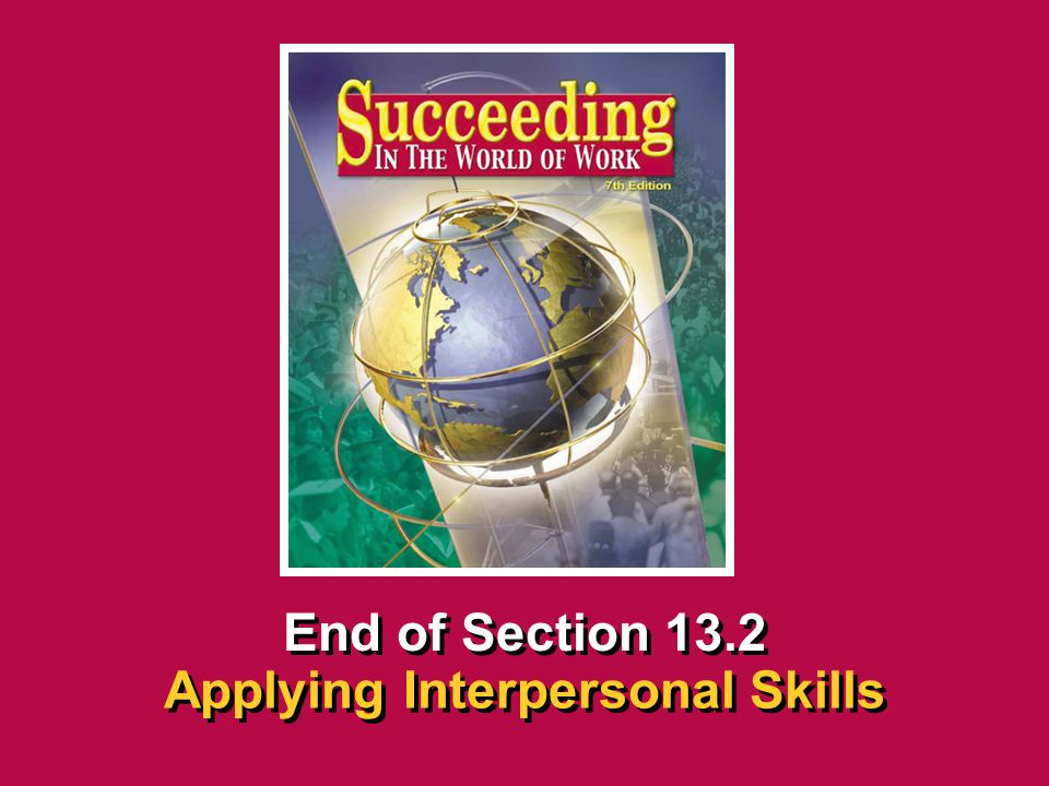 Applying Interpersonal Skills