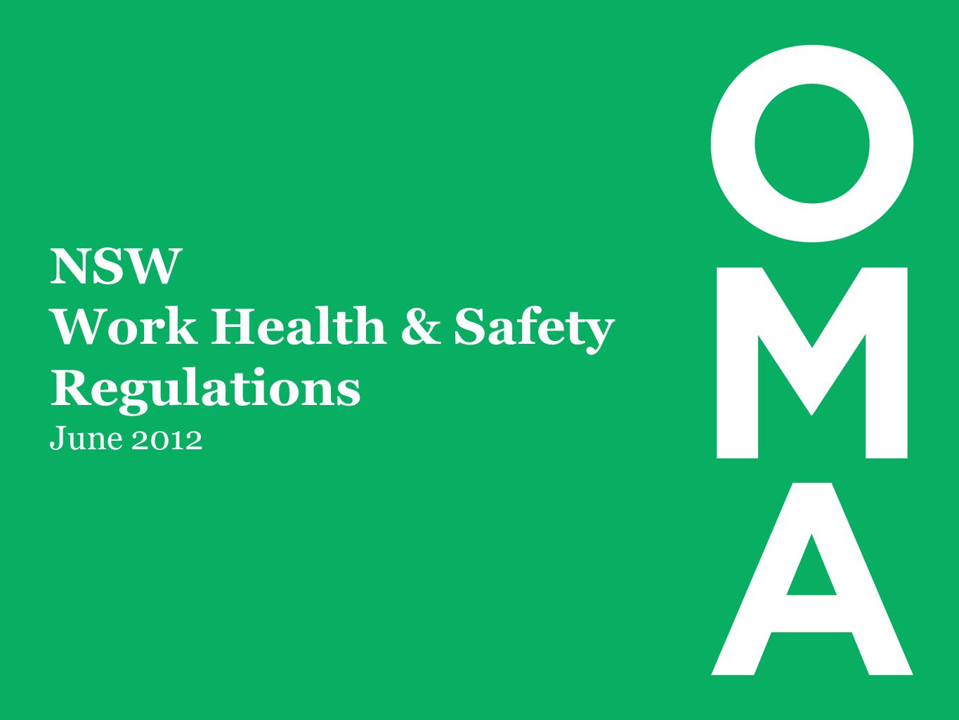 NSW Work Health & Safety Regulations June 2012