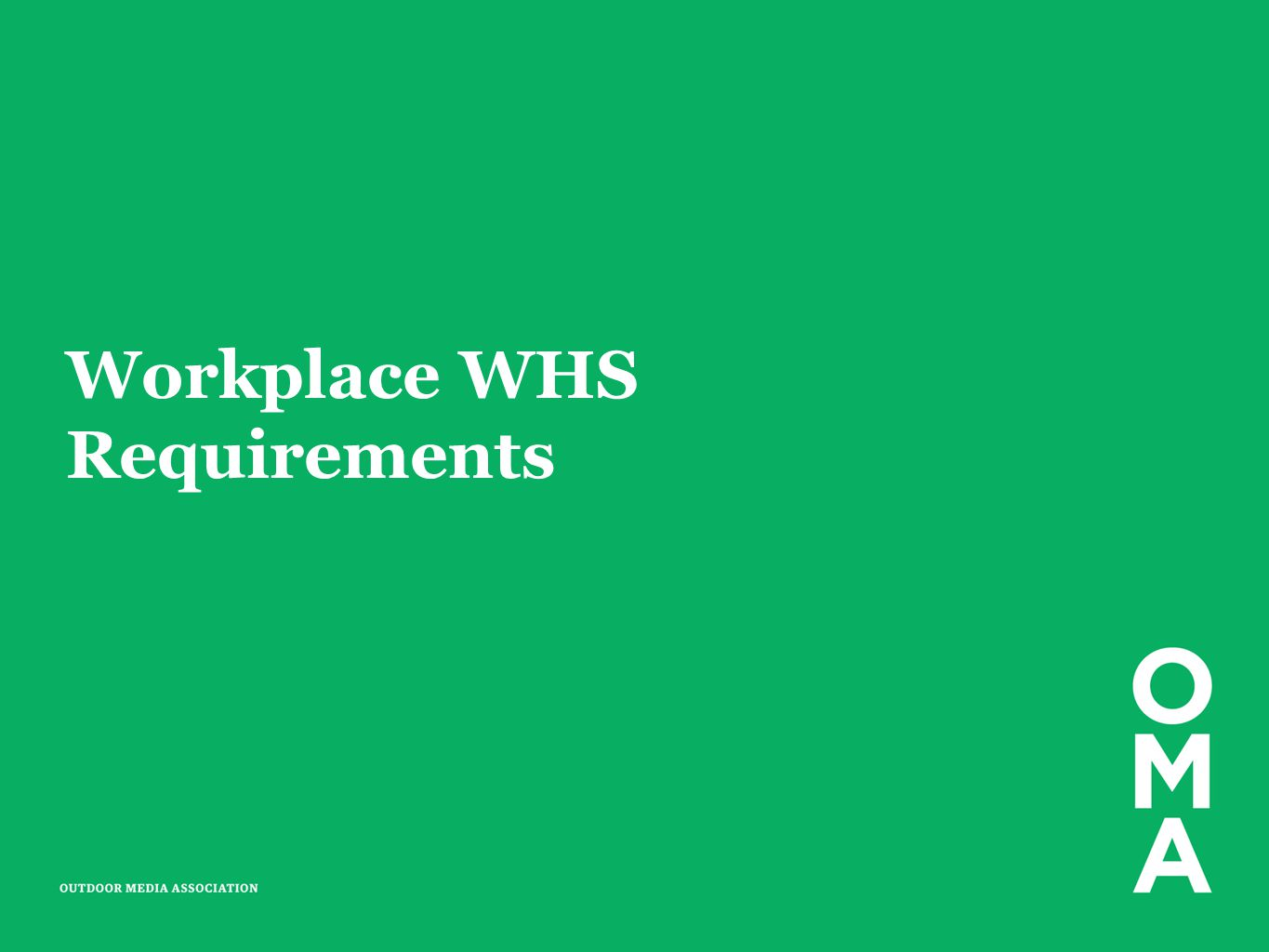 Workplace WHS Requirements
