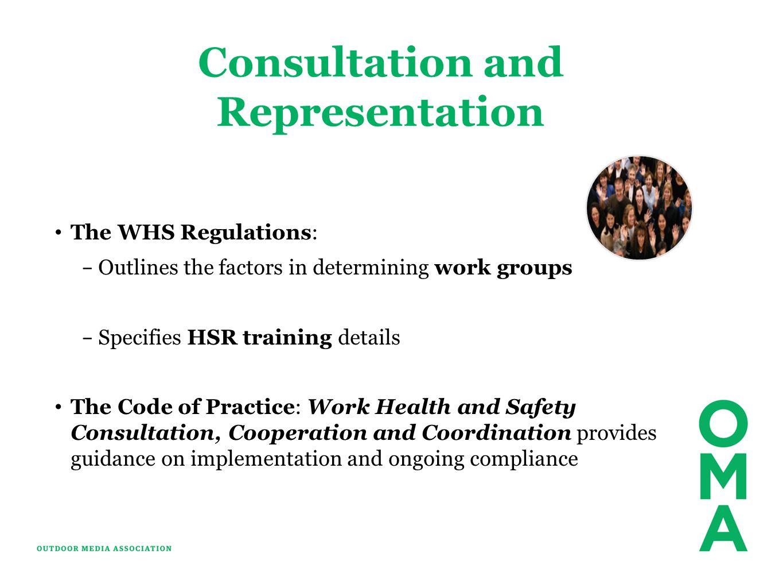 Consultation and Representation