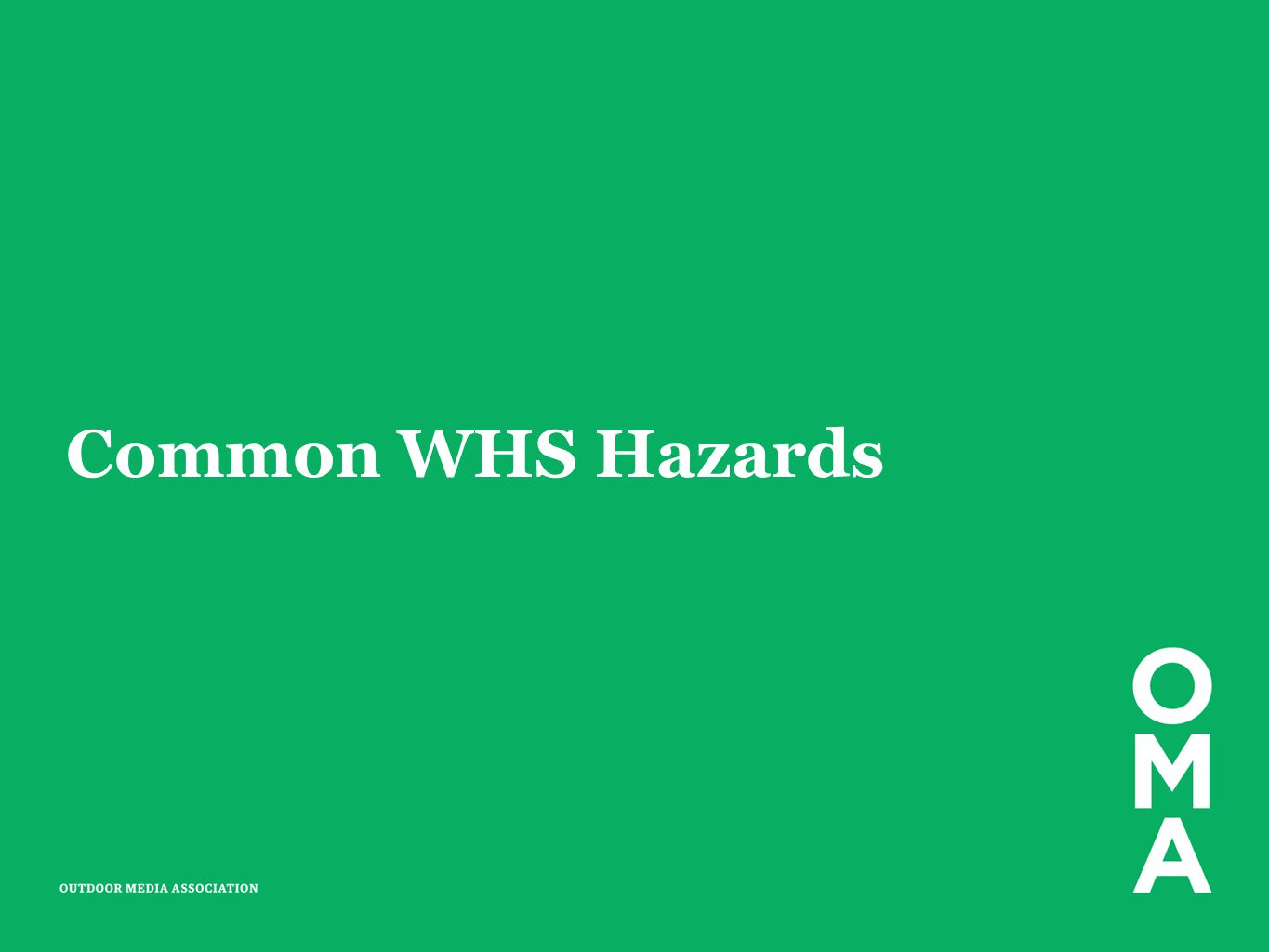 Common WHS Hazards