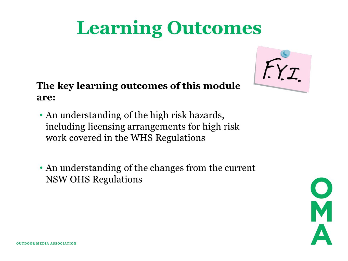 Learning Outcomes The key learning outcomes of this module are: