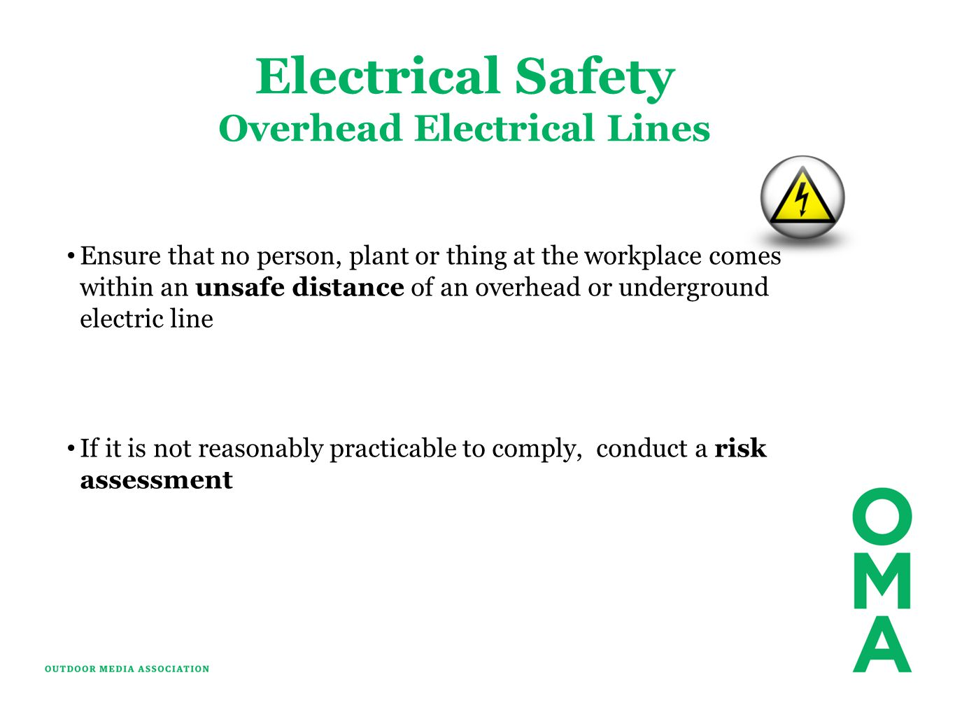 Overhead Electrical Lines