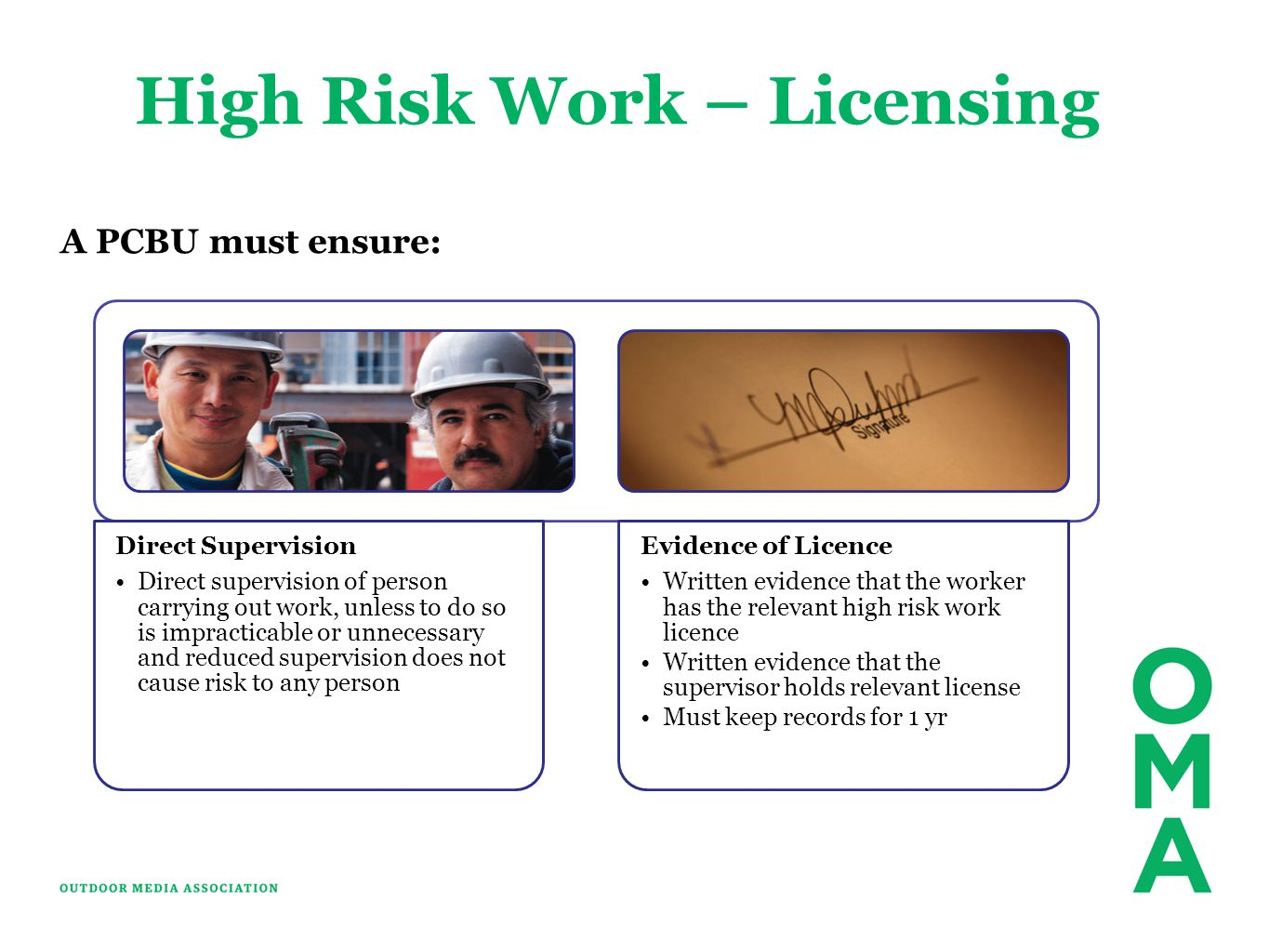 High Risk Work – Licensing
