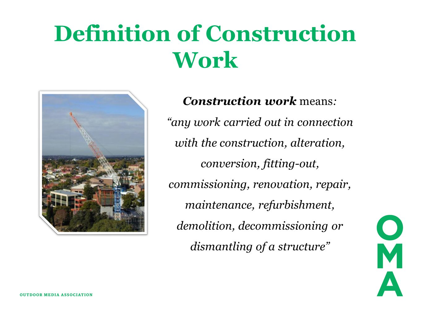 Definition of Construction Work