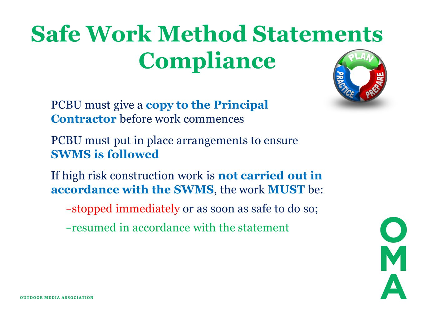 Safe Work Method Statements Compliance