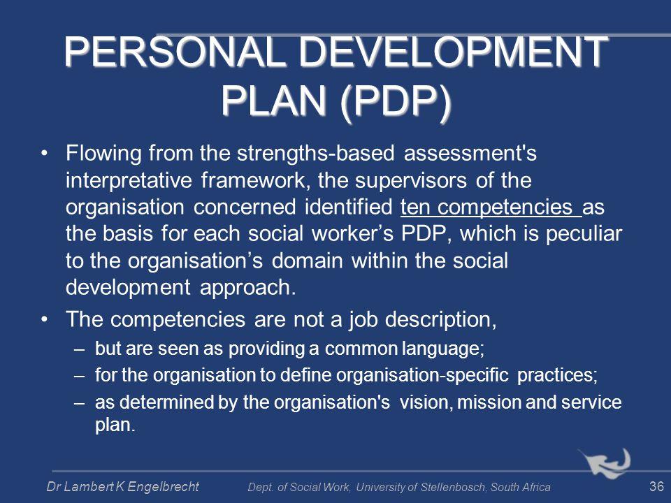 PERSONAL DEVELOPMENT PLAN (PDP)