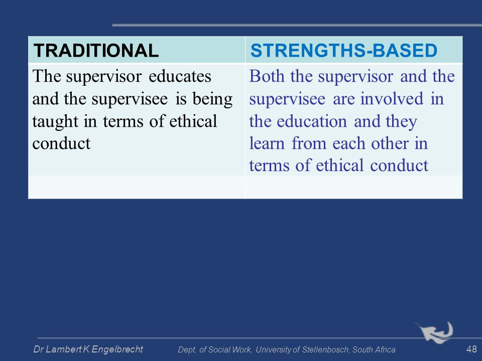 TRADITIONAL STRENGTHS-BASED