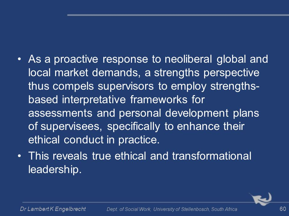 This reveals true ethical and transformational leadership.