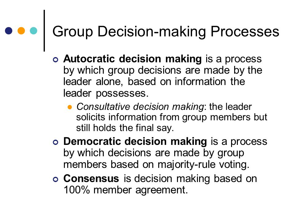 Group Decision-making Processes